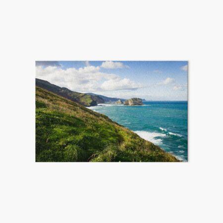 Basque Country coast landscape Art Board Print