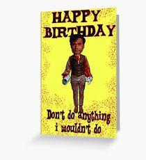 Tarjeta de felicitación Feliz cumpleaños sombras vampiro
