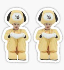 Cute BTS Min Yoongi Suga Sticker Set ( BT21 Chimmy meme)  Sticker