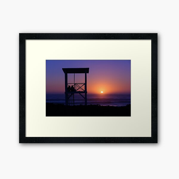 Sunset love Framed Art Print