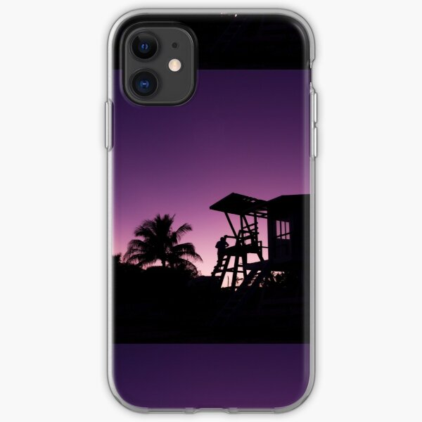 Baywatch tower silhouette sunset iPhone Soft Case