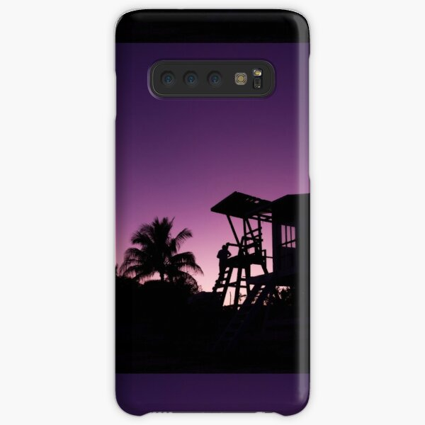 Baywatch tower silhouette sunset Samsung Galaxy Snap Case