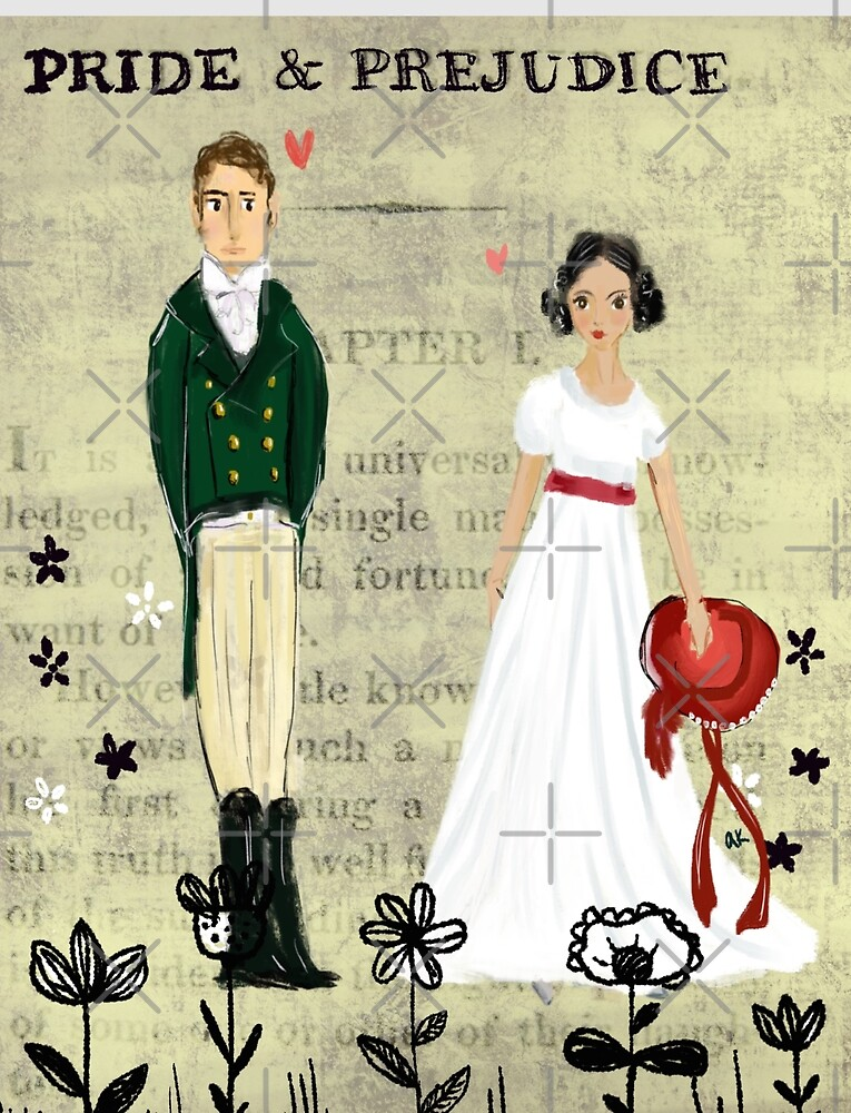 Mister Darcy and Miss Bennet by greenrainart