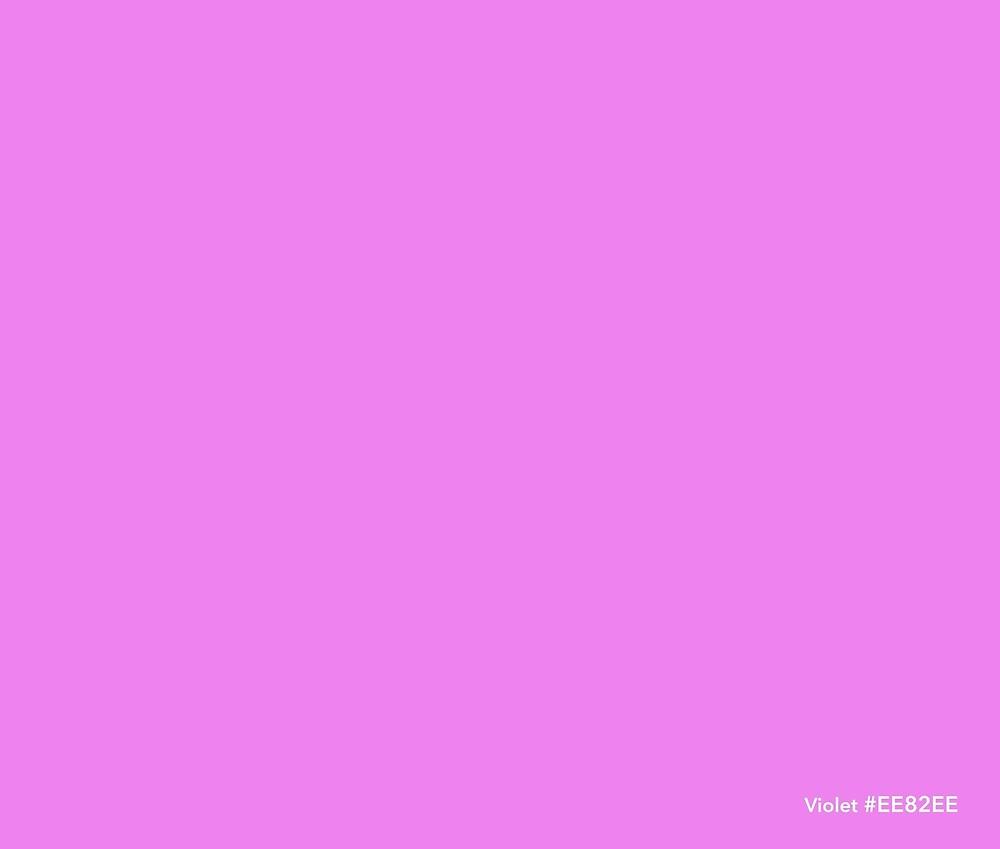 HTML Colors - Violet #EE82EE\