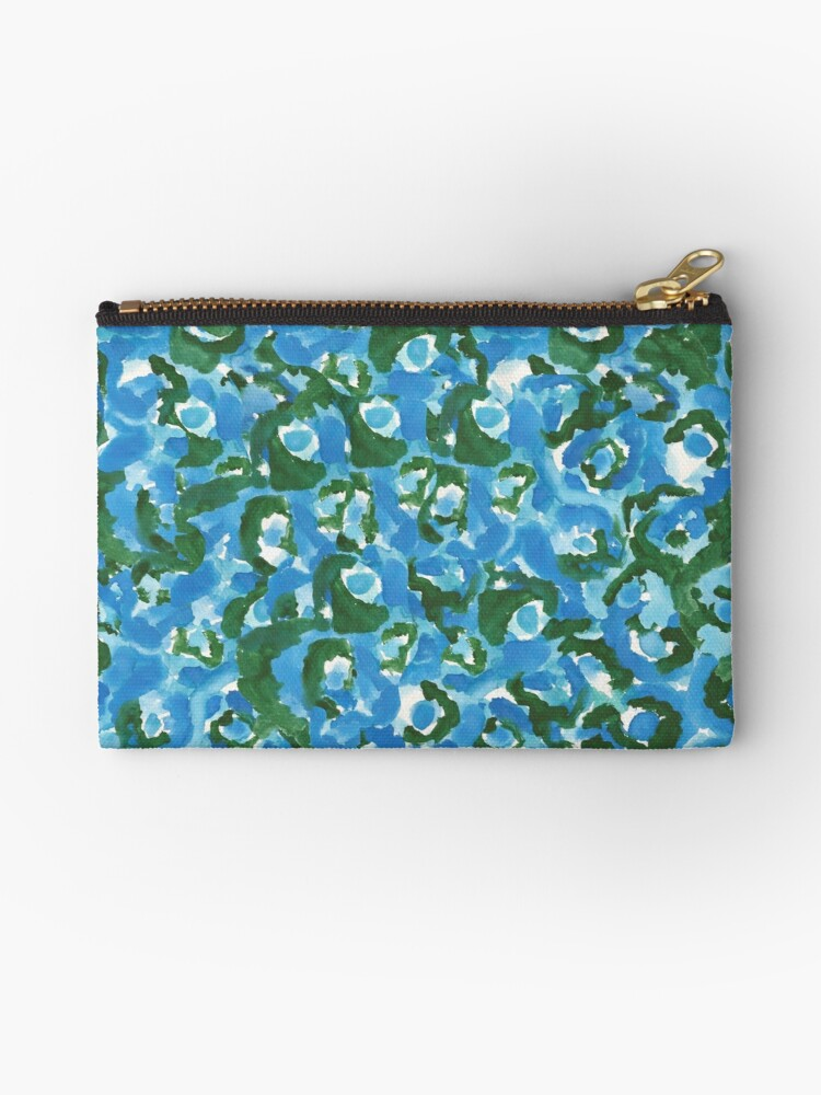 Leopard Print Abstract Blue and Green by Ninkybink