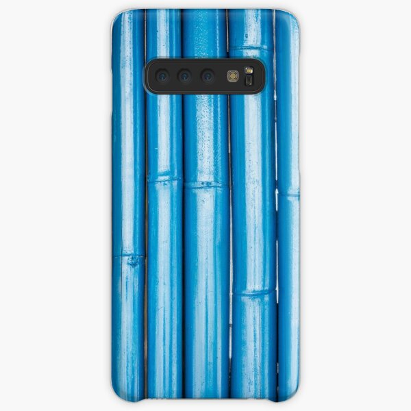 Blue bamboo canes background Samsung Galaxy Snap Case