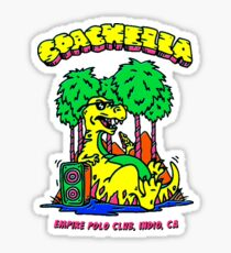 Coachella Dinosaur Graphic Art Sticker