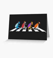 Beetles on Abbey Road ART Greeting Card