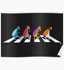 Beetles on Abbey Road ART Poster
