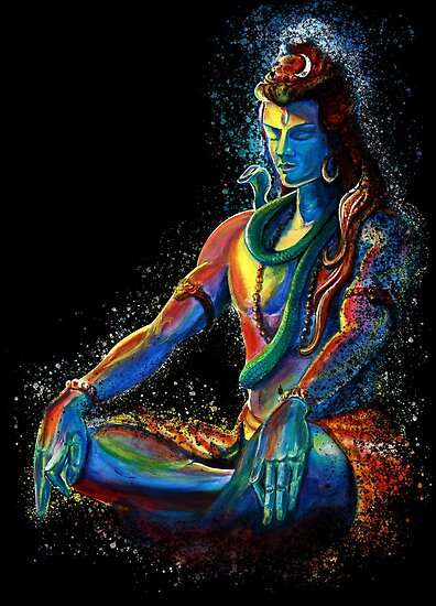 Quot Eternal Lord Shiva In Meditation Quot Poster By Sania Redbubble