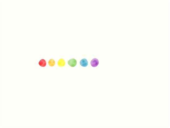 Watercolor Rainbow Dotted Line By Kirsten Soderblom