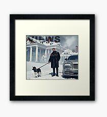 Lámina enmarcada Drake con el tapiz de vistas de perro