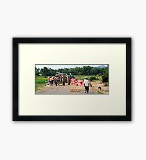 Community Harvest, Vietnam Framed Print
