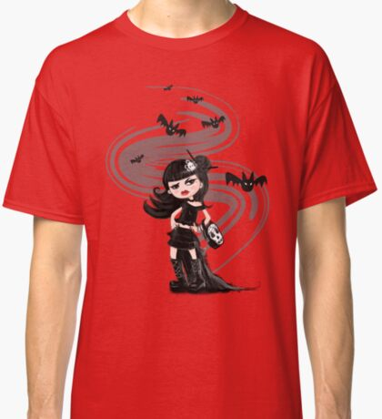 Girl in black with Bats Classic T-Shirt