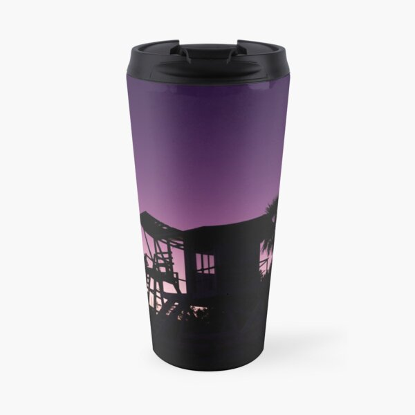 Baywatch tower silhouette sunset Travel Mug