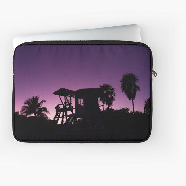 Baywatch tower silhouette sunset Laptop Sleeve