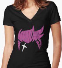 Zarya Fan Art Typography T-Shirt Women's Fitted V-Neck T-Shirt