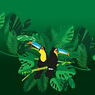 Tukane im Dschungel von Pia Kolle