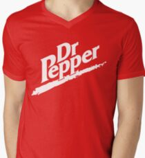 Dr Pepper 90s Maroon Background Men's V-Neck T-Shirt