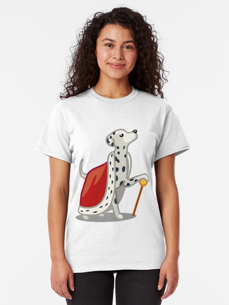 Alternate view of Funny Dalmatian Diva Tshirt - Dog Gifts for Dalmatian Dog Lovers! Classic T-Shirt