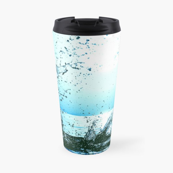 Blue water splash Travel Mug