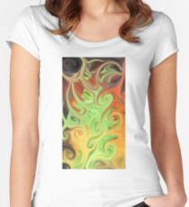 Smudged Colours 3 Women's Fitted Scoop T-Shirt