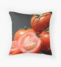 Fresh Tomatoes Throw Pillow
