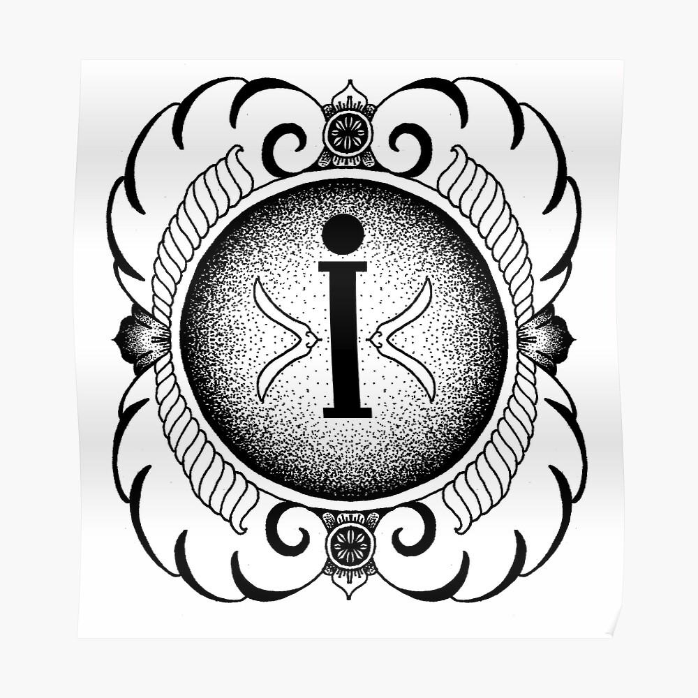 Ivk Sketch Logo Poster