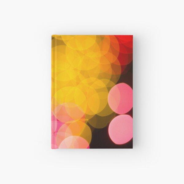 Bokeh abstract pink yellow circles Hardcover Journal