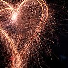 sparkler heart by Cale Bowick