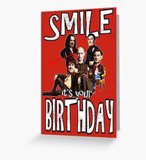 Tarjeta de felicitación Feliz cumpleaños sombras vampiros