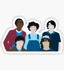 Stranger Things Cast Minimalist Artwork  Sticker