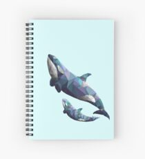 Orca Poly Blues Spiral Notebook