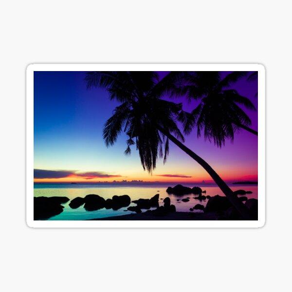 Fantasy sunset landscape Thailand Sticker