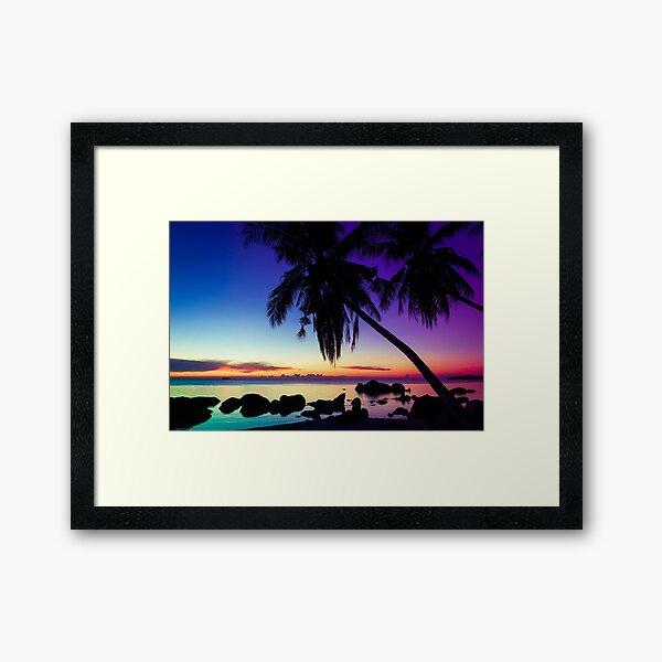 Fantasy sunset landscape Thailand Framed Art Print