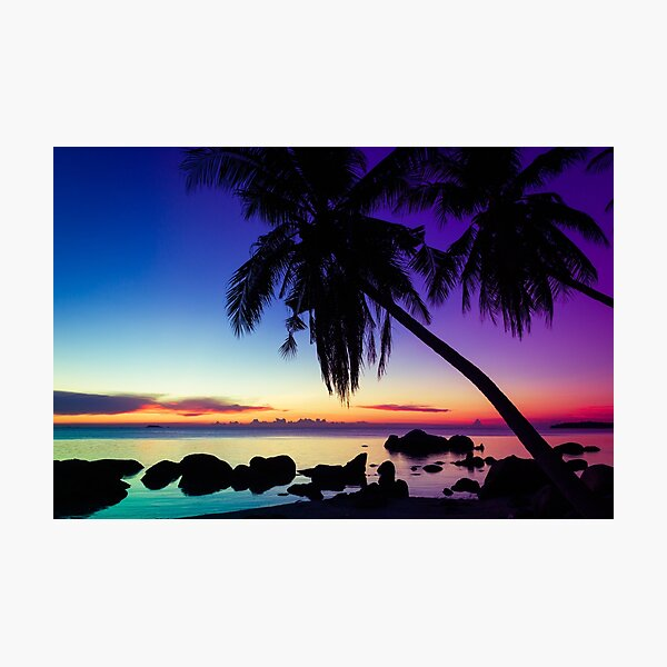 Fantasy sunset landscape Thailand Photographic Print