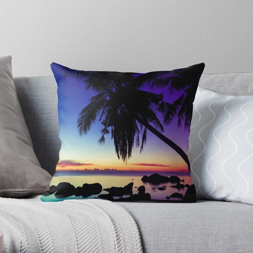 Fantasy sunset landscape Thailand Throw Pillow