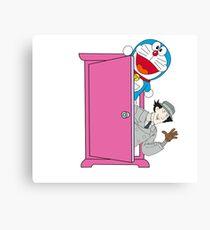 Doraemon & Inspector Gadget Canvas Print