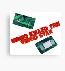 Video Killed the Video Star Canvas Print