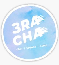 3RACHA - start line (blue) Sticker
