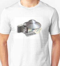 Throwing hubcaps (1950s) white background Unisex T-Shirt