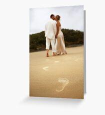 Footsteps Greeting Card