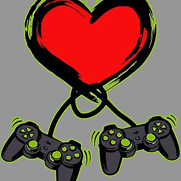 Video Gamer Valentines Day Gift by Fabshop