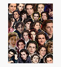 Timothee chalamet Collage Photographic Print