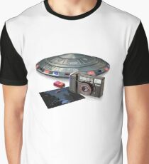 Throwing hubcaps (1980s) white background Graphic T-Shirt