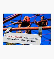Entertaining Disobedience  Photographic Print