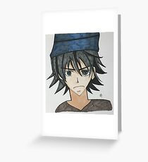 Anime Charakter Grußkarte