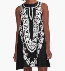 Black Dashiki Wakandan A-Line Dress