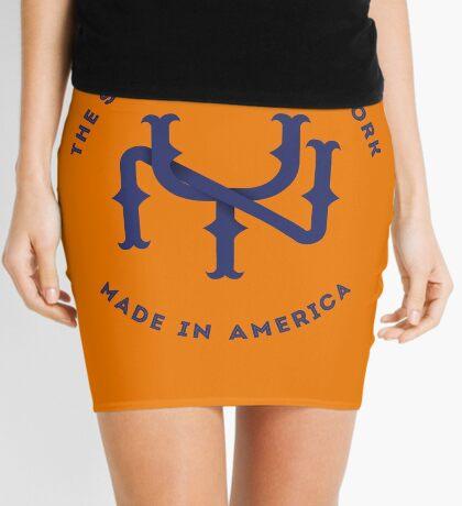 NY New York State Monogram Blue Mini Skirt