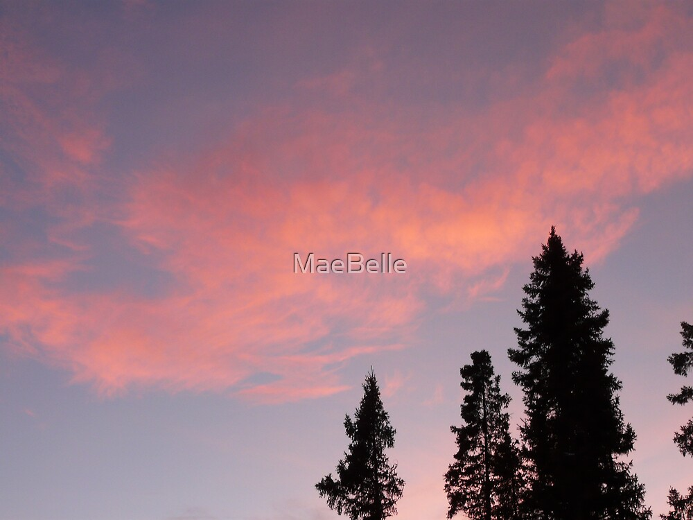 Pink, Sunset Clouds by MaeBelle